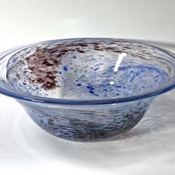 Still Waters Bowl, handblown glass bowl by Adam Aaronson