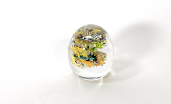 Sunflowers is a handmade glass paperweight by Adam Aaronson