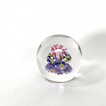 Triple Blossom Handmade Glass Paperweight by Adam Aaronson