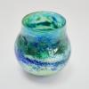 Turquoise Horizon Vase , Handblown Glass by Adam Aaronson