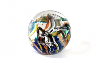 Underwater Seascape Paperweight, Handmade Glass by Adam Aaronson
