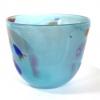 Azure Beachcomber Medium Bowl Handmade Glass Bowl by Adam
