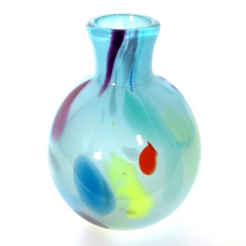 Azure Large Beachcomber Bud Vase Handmade Glass by Adam Aaronson