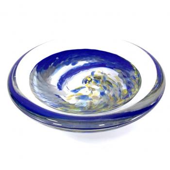 Deep Rockpool soap dish Handmade Glass by Adam Aaronson
