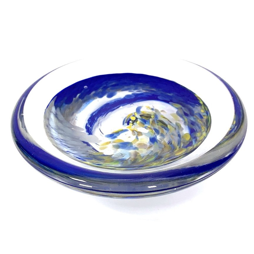 Deep Rockpool soap dish Handmade Glass by Adam Aaronson