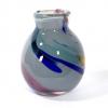 Grey beachcomber small bud vase Handblown Glass by Adam Aaronson