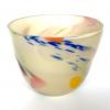 Latte Beachcomber Medium Bowl Handmade Glass Bowl by Adam Aaronson