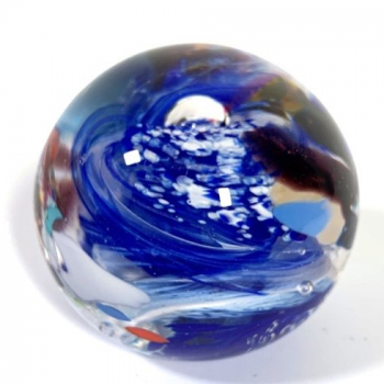 Ocean Current Handmade Glass Paperweight by Adam Aaronson