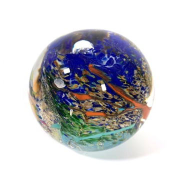 Ocean treasure Handmade Glass Paperweight by Adam Aaronson