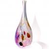 Purple Beachcomber Flat Bottle Handmade Glass by Adam Aaronson