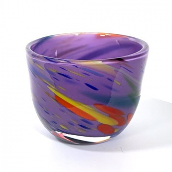 Purple Beachcomber Small Bowl Handblown Glass by Adam Aaronson