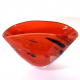 Red Beachcomber Fan Vase Handblown Glass by Adam Aaronson