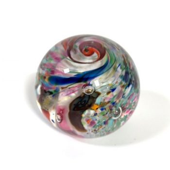 Summer Fiesta Handmade Glass Paperweight by Adam Aaronson