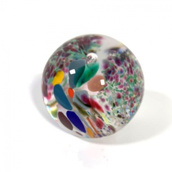 Winter fiesta Handmade Glass Paperweight by Adam Aaronson