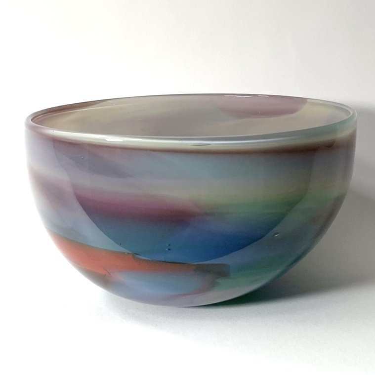 Beachcomber Horizon Bowl Handblown Glass by Adam Aaronson