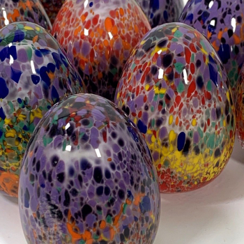 Rainbow Eggs Hand Made Glass by Adam Aaronson