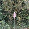Peach Triple Pod Handblown Garden Sculpture by Adam Aaronson