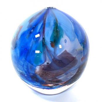 Blue Rhapsody Sphere Handblown glass by Adam Aaronson