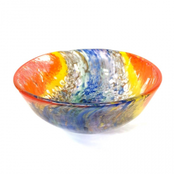 Double Rainbow Bowl Handmade Glass by Adam Aaronson