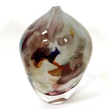 Grey Rhapsody Vase Handblown glass by Adam Aaronson