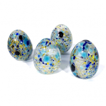 Speckledy Holly Eggs Handmade Glass by Adam Aaronson