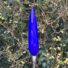 Sapphire Flame Handblown Garden Sculpture by Adam Aaronson