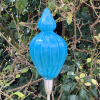 Turquoise Seed Pod Handblown Glass on Stainless Steel Fittings by Adam Aaronson