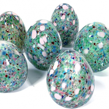 Speckledy Polly Eggs Handmade Glass by Adam Aaronson