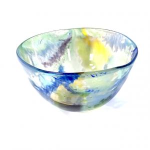 Adam Aaronson Handblown Glass Bowl Pagham Sky