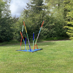 Adam Aaronson Boundaries Sculpture installed at the entrance to Delamore House