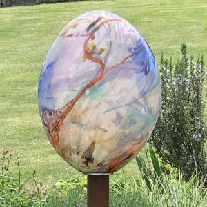 Adam Aaronson Hand Blown Glass Cloud sculpture